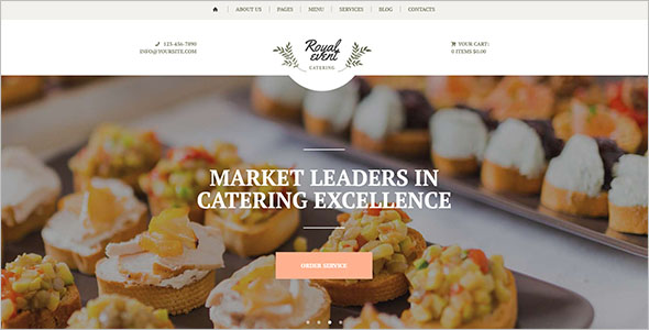 Catering Planner Website Template