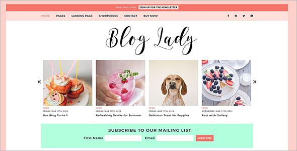 Custom Lifestyle Blog Theme