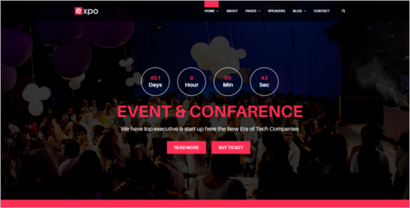 Customizable Event Management Website Theme