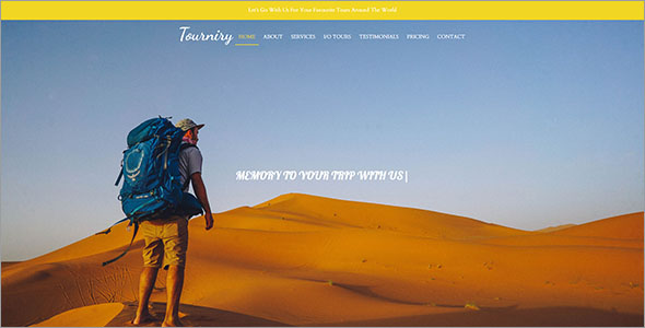 Customizable Travel HTML Template