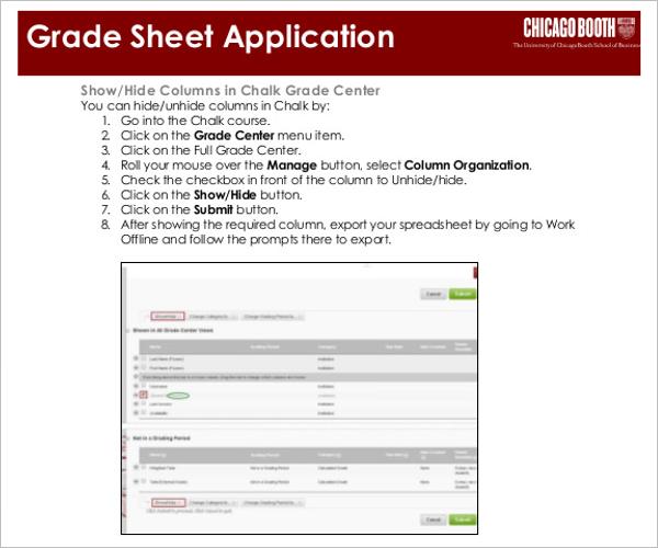 Customize Grade Sheet Template PDF