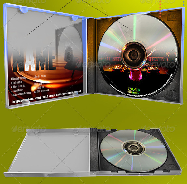 DVD & CD Case Template