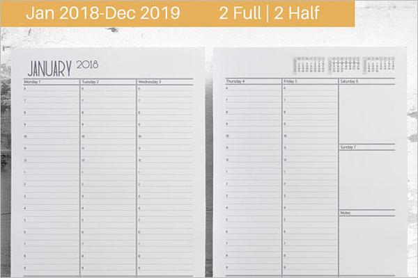 Daily Agenda Planning Format