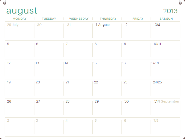Daily Calendar Agenda Word