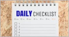 Daily Checklist Templates