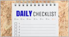 Daily Checklist Templates