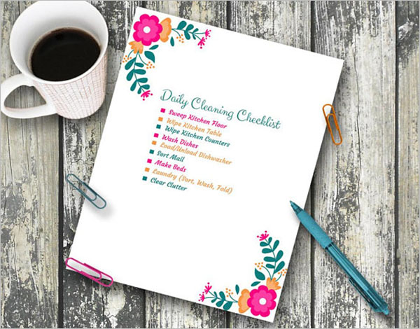 Daily Cleaning Checklist For Office