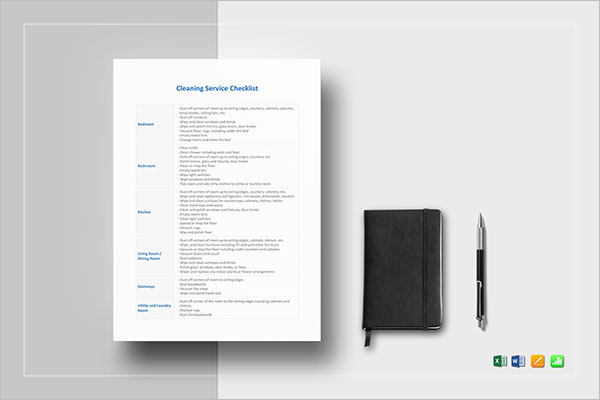 Daily Cleaning Checklist Template