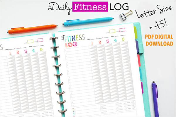Daily Fitness Log Template