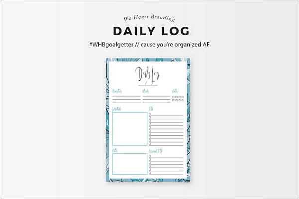 Daily Planner Log Template