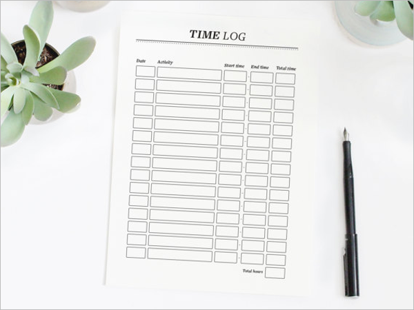 Daily Time Log Template