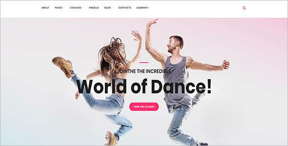 Dance Coaching WordPress Theme
