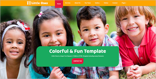 Daycare HTML Website Template