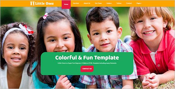 Daycare HTML Website Template