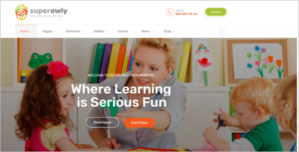 Daycare Website Template