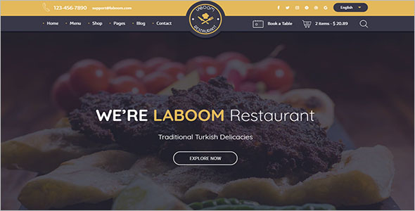 Delicious Food Drupal Template
