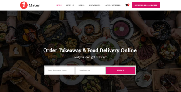 Delivery Business Website Template