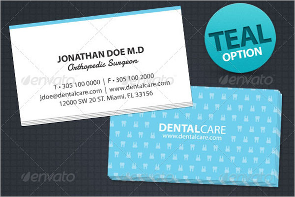 Dental Care Business Card Design