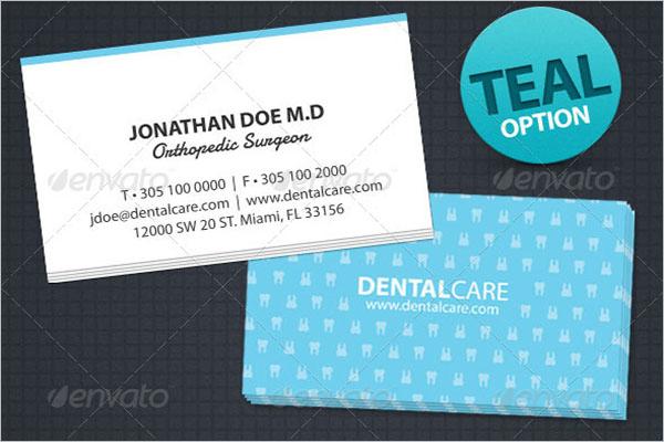 Dental Care Business Card Design