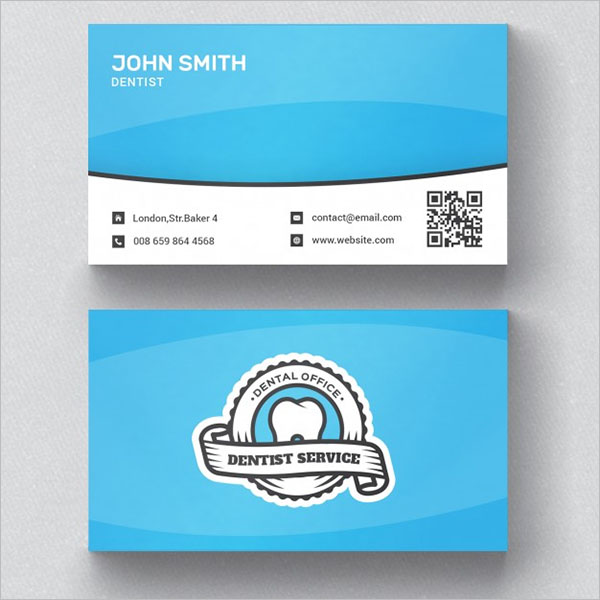 Dental Care Business Card Front & Back