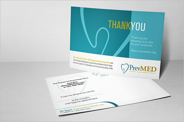 Dental Care Business Card PSD Free Download