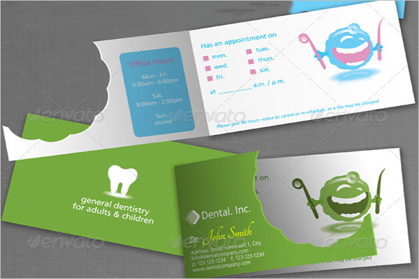 Dental Care Business Card Vector