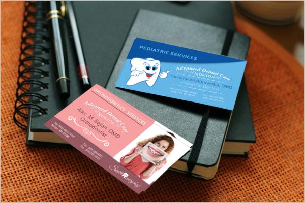 Dental Care Center Business Card Template