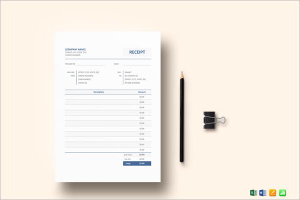 Dental Receipt Template PDF