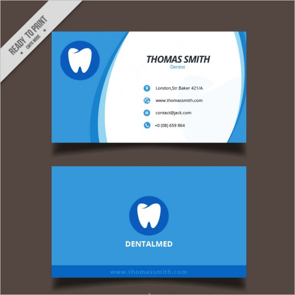 Dental clinic business card Free Vector