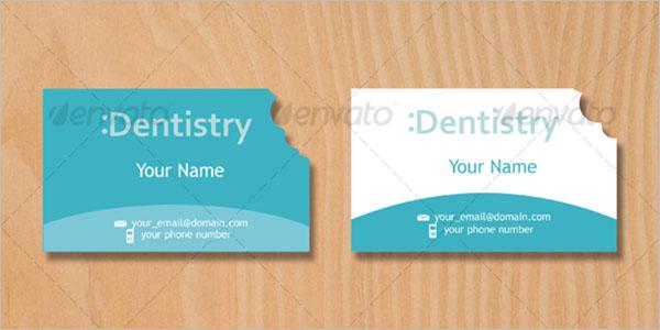 Dentist Business Card Blank Design