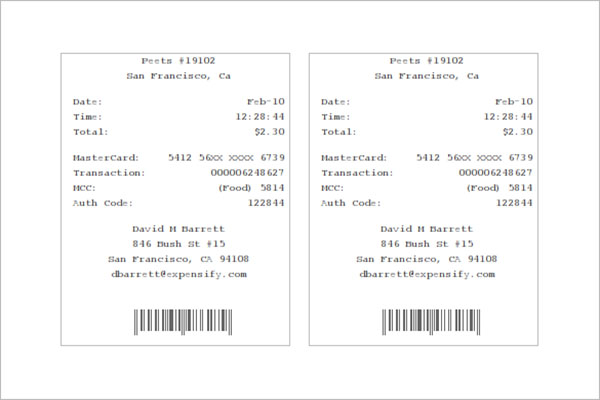 Download Electronic Receipt Template