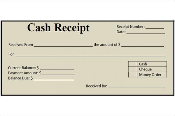 Download Money Receipt Template