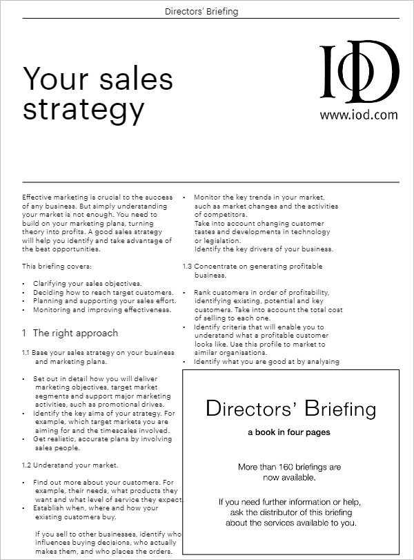 Download Sales Strategy Template