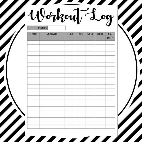 Download Workout Log Template