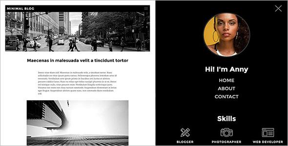 Drupal Minimalist Website Template