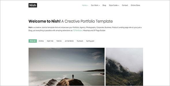 E-Commerce Joomla Portfolio Template