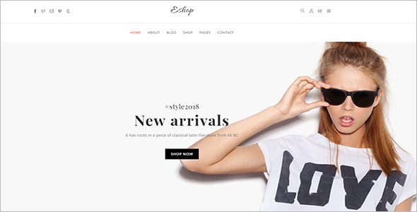 Ecommerce HTML Website Template