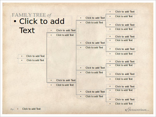 Editable Family Tree PPT Template