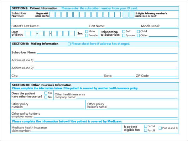 Editable Medical Receipt Format