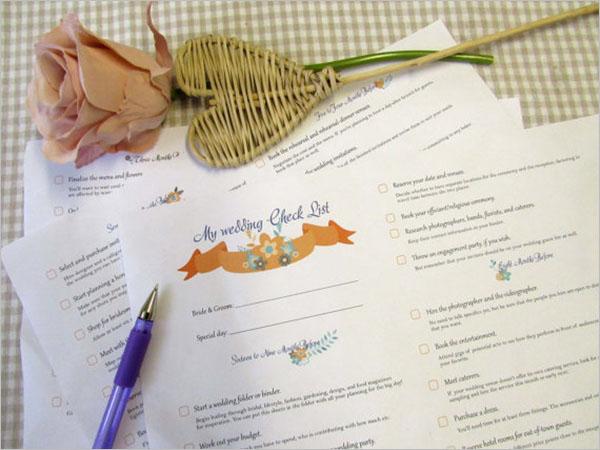 28 wedding checklist templates free pdf word excel formats