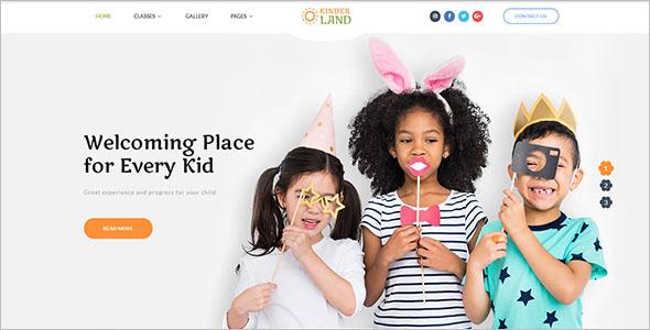 Educational Website Template