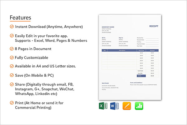 Electronic Receipt Format TemplateElectronic Receipt Format Template