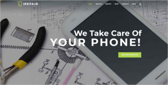 Electronic Repair Website Theme