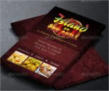 Elegant Catering Services Business Card Design