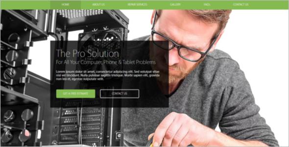 Elegant Computer Repair Website Theme