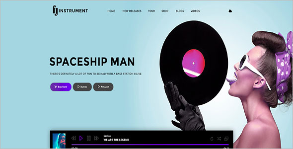 Elegant Music Joomla Template