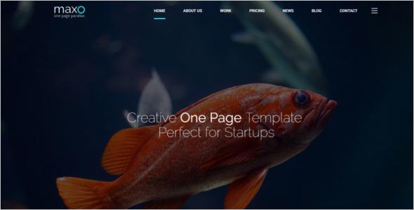 Elegant Scrolling Website Template