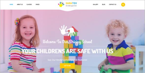Elementary School Website Theme