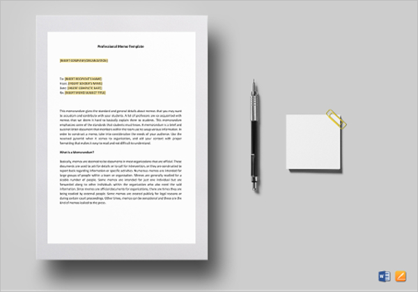 Email Memo Doc Template