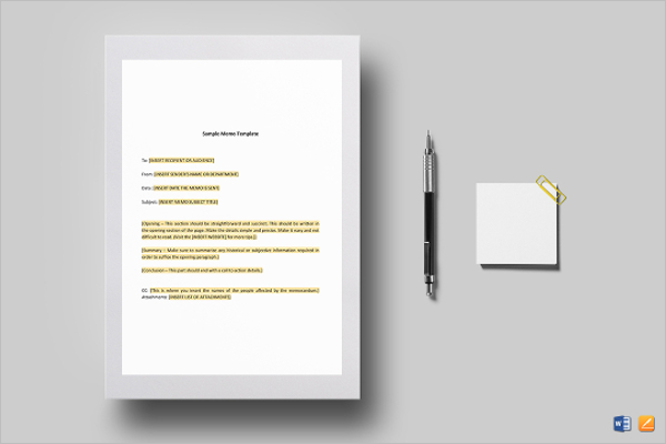 Email Memo Template Word Format